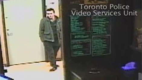 Toronto police have released security camera images of suspects who assaulted Valerie Bustros in a York University bar. April 9, 2011.