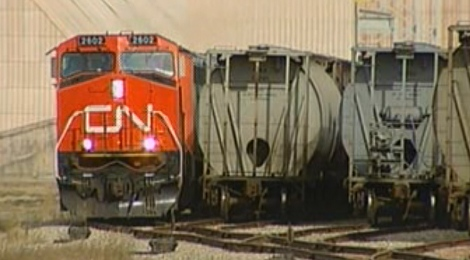 Flood waters shut down CN Rail trains traveling from Winnipeg to Manitoba