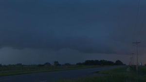 Our news crews caught these images of the storm developing just north of Brooks on June 17, 2013. A tornado warning was issued for the area.