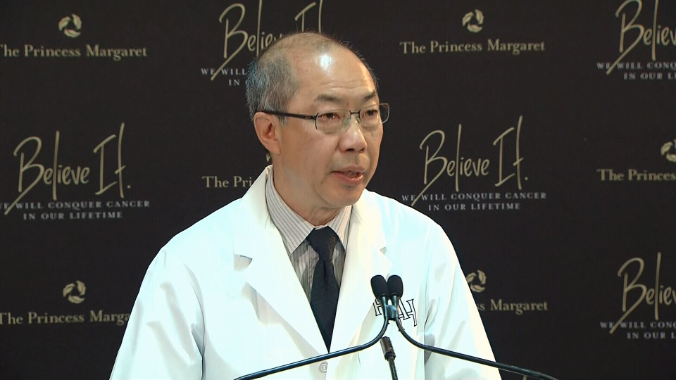 Dr. Tak Mak of the Princess Margaret Cancer Centre speaks in Toronto on Tuesday, June 13, 2013.