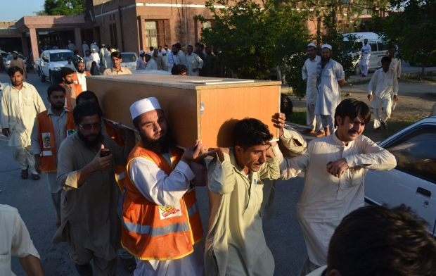 Suicide bombing at Pakistan funeral