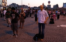 Protesters stand silently in Istanbul, Turkey