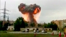 Fire at Russian military depot