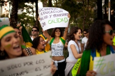 tens of thousands take to the streets of Brazil