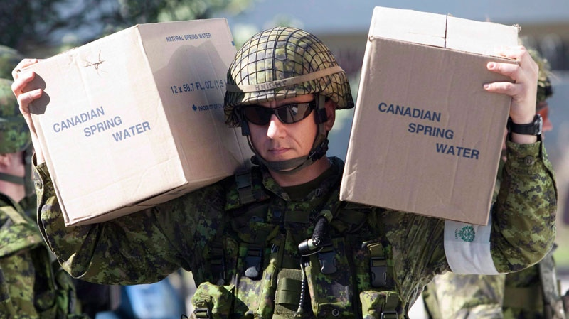 Canadian troops in Haiti