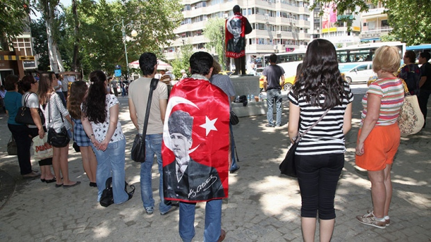 Turkey's standing man a new way to protest