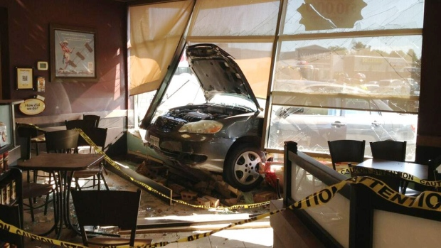 Car crashed into Ottawa Tim Hortons store
