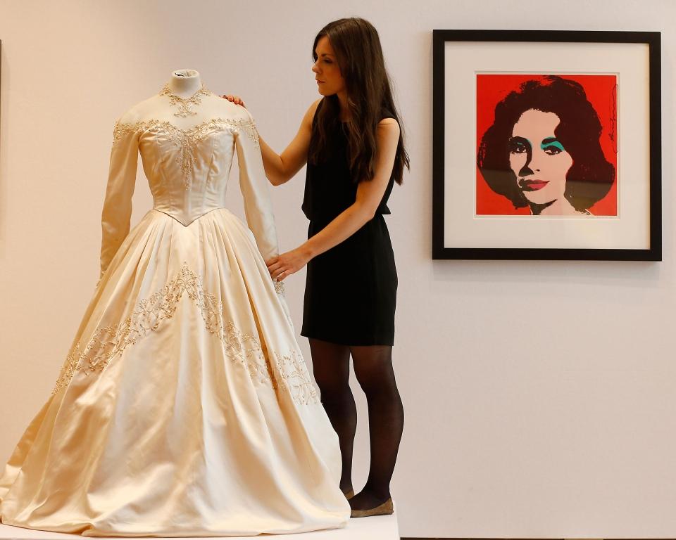 Elizabeth taylor 39 s first wedding dress up for auction at for Elizabeth taylor s wedding dresses