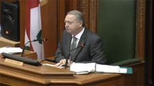Montreal city council speaker Claude Dauphin refused a request from Mayor Gerald Tremblay to step down from his position amid allegation of improprieties in granting a subsidy in Lachine.