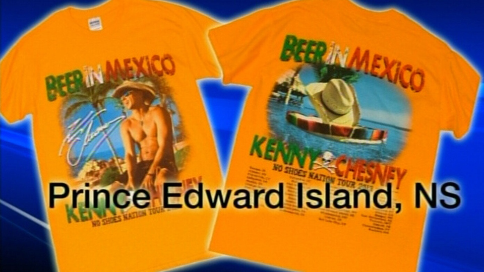A mistake on a promotional T-shirt for Kenny Chesn