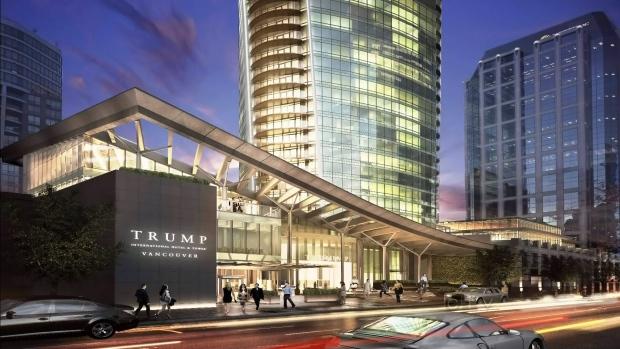 Image result for photos of trump condominium tower in Vancouver, British Columbia