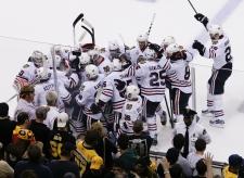 Black Hawks tie Bruins in Stanley Cup finals