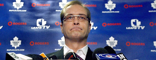 Toronto Maple Leafs head coach Paul Maurice listens to questions during a news conference at the Air Canada Centre in Toronto on Monday, April 7, 2008. (J.P. Moczulski / THE CANADIAN PRESS)