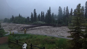 Cougar Creek flooding