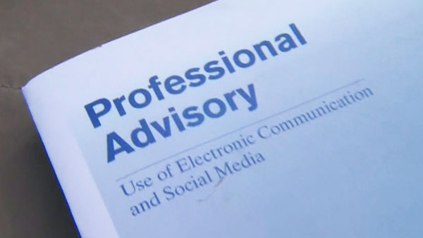 The Ontario College of Teachers is telling teachers not to 'friend' students on Facebook or follow them on Twitter.