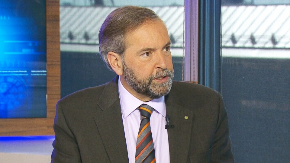 NDP Leader Thomas Mulcair appears on CTV's Power Play in Ottawa on Thursday, June 20, 2013.