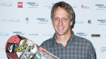 This image released by Starpix shows professional skateboarder Tony Hawk at the Cantor Fitzgerald Charity Day event, Tuesday, Sept. 11, 2012 in New York. (AP / Starpix, Andrew Toth)