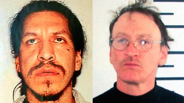 An undated combination of photos provided by the Nashua, N.H. Police Dept. shows Anthony Barnaby, left, and David Caplin. (AP / Jim Cole)