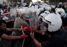Riot police, Taksim Square, Istanbul, Turkey