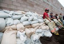 Volunteer firefighters in Medicine Hat, Alta.