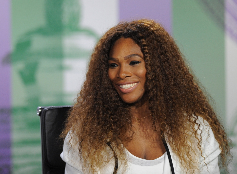 Defending women's champion Serena Williams of the United States speaks to the media during a press conference at Wimbledon, Sunday, June 23, 2013. (Jon Buckle / The All England Lawn Tennis & Croquet Club Wimbledon)