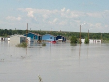 Siksika First Nation flooded