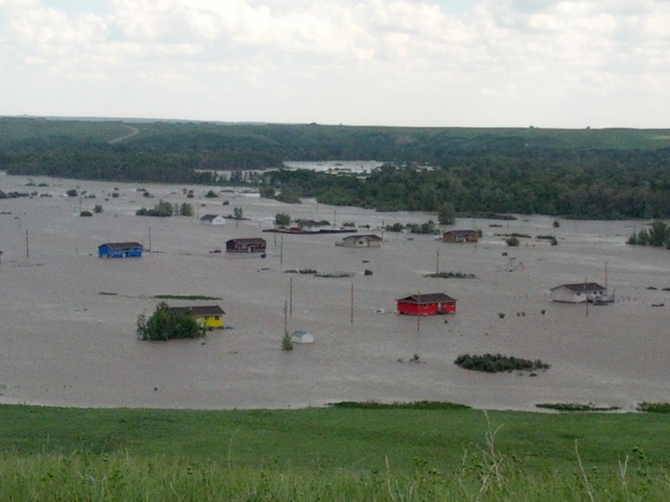 Entire communities are underwater in the Siksika First Nation. (Courtesy Linda Little Chief)