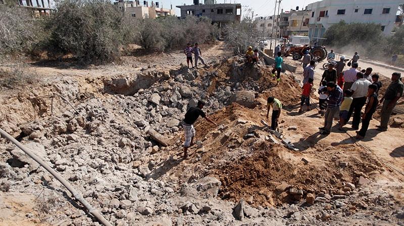 Israel launches air strike in Gaza strip