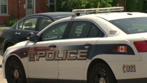 A Guelph Police Service cruiser is seen in downtown Guelph, Ont., on Friday, June 21, 2013.