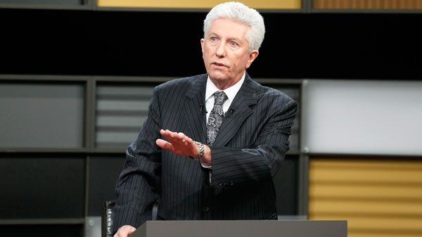 Bloc Quebecois leader Gilles Duceppe answers a question during the English language federal election debate in Ottawa, Ont., on Tuesday, April 12, 2011. (Adrian Wyld / THE CANADIAN PRESS)