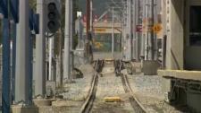 LRT track - flood damage