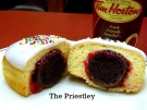 """""""The Priestley"""" doughnut is shown in a handout photo from Tim Hortons. Vancouver-born celebrity Jason Priestley will help Tim Hortons pick the winner of a contest its launched asking Canadians to design a new doughnut. THE CANADIAN PRESS/HO-Tim Hortons"""
