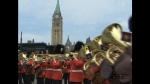 The first changing of the guard took place this morning on Parliament Hill. It takes place daily until the end of August.