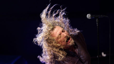 Robert Plant performs at The Roundhouse venue in Camden, north London, during the BBC Radio 2 Electric Proms concert Friday Oct. 29, 2010.