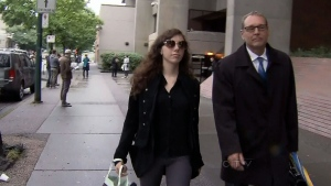 Sophie Laboissonniere is seen walking after making a court appearance in this undated photo.