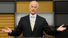 New Democratic Party leader Jack Layton answers a question during the English language federal election debate in Ottawa, Ont., on Tuesday, April 12, 2011. (Adrian Wyld / THE CANADIAN PRESS)