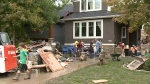 Calgarians cleanup after the floods.