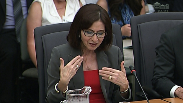 Ann Cavoukian testifies at gas plants hearing