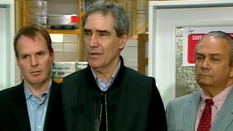 Liberal Leader Michael Ignatieff speaks at a press conference in Gatineau, Que., on Thursday, April 14, 2011.