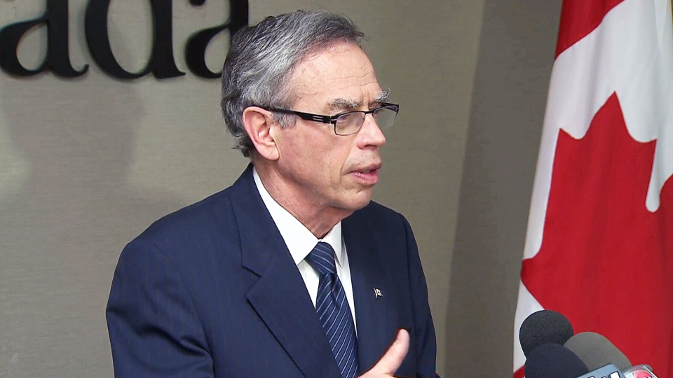Natural Resources Minister Joe Oliver responds to U.S. President Barack Obama's Keystone pipeline requirements Tuesday, June 25, 2013.