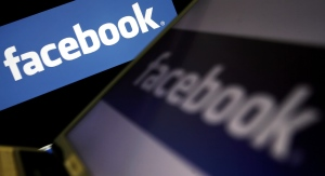 Facebook logos are seen in this undated file photo. (AFP/LEON NEAL)