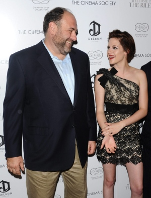 "Actors James Gandolfini and Kristen Stewart attend the Cinema Society screening of ""Welcome To The Rileys"" in New York, on Monday, Oct. 18, 2010. (AP Photo/Peter Kramer)"