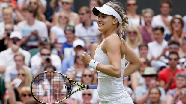 Bouchard beats Ivanovic at Wimbledon