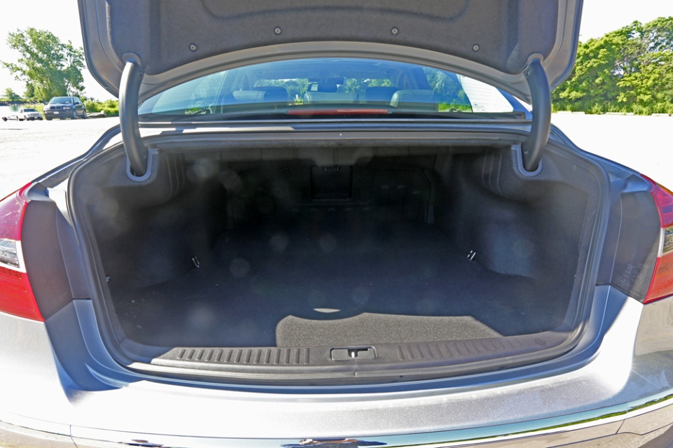 Large trunk can fit atleast two full sets of golf clubs, or even a hockey bag without any problem at all. (Bill Wang/CTVNews.ca)