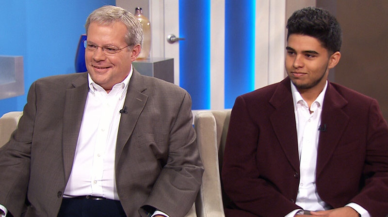 David Hughes, president and CEO of Pathways to Education, and Wares Fazelyar, a graduate of the program, speak on Canada AM, Thursday, June 27, 2013.