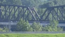 Train derailment on Bonnybrook Bridge