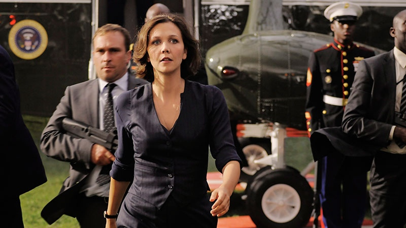 Maggie Gyllenhaal in a scene from Sony Pictures Canada's 'White House Down'