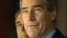 Liberal Leader Michael Ignatieff speaks to reporters during a campaign stop in Ottawa, Friday, April 15, 2011.