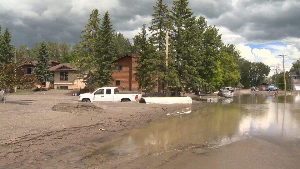 Flooding damage is seen in High River, Alta., Thursday, June 27, 2013.