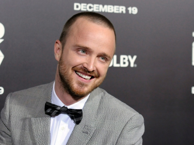 Aaron paul is shown at the premiere of the film quot zero dark thirty quot in